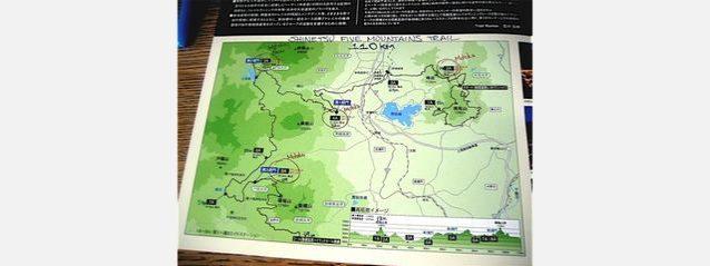 信越五岳トレイルランニングレース2010のコースマップ。写真:クリッシー・モール・コレクション