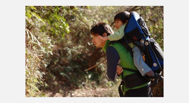 里山散策中にアリジゴクの巣を発見。鎌倉市台峯 写真:増本 雅人