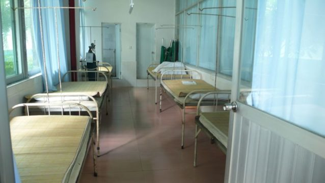 従業員が無料で利用できる工場の施設内にある診療所。Photo: Cara Chacon