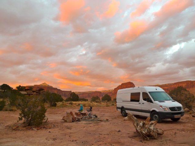 任務完了:お気に入りのキャンプサイトのジプシー・バン。Photo: Zoe Hart