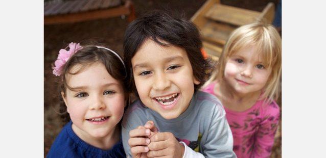 託児所では子供たちが元気にはしゃいでいて、いつも賑やかな雰囲気。Photo: Tim Davis