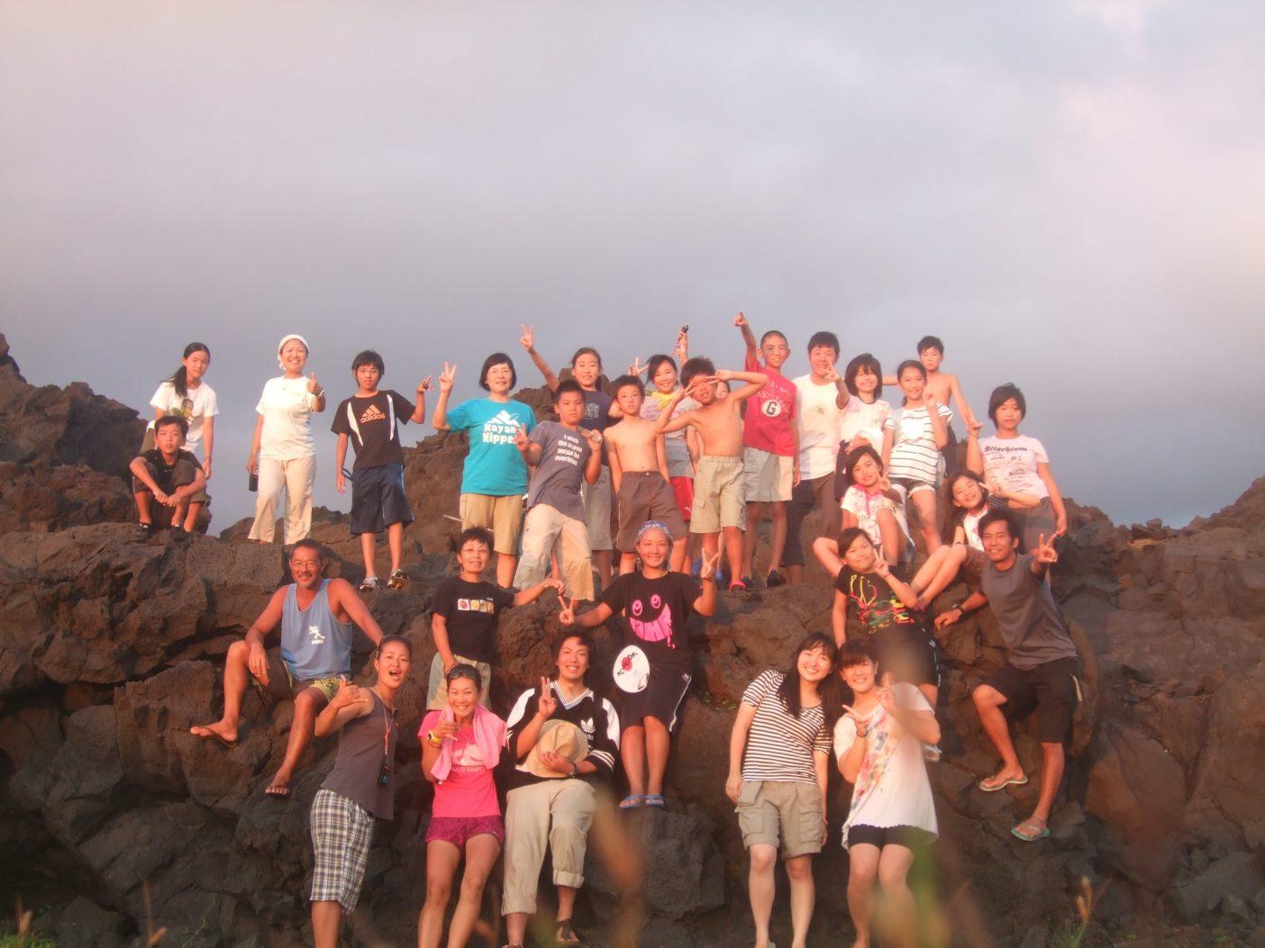 今年8月に実施した三宅島のサマースクールでは三宅島の生態系を学んだ。写真:松宮愛