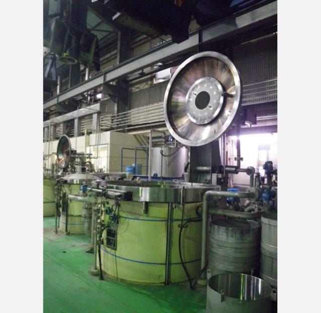 一度に最大500kgのコットン繊維を酵素を使ってグルコースに分解できる糖化槽。写真:パタゴニア日本支社