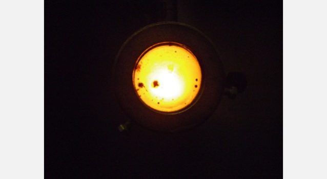 エマルジョンシステムを使用したボイラーの炎。写真:パタゴニア日本支社
