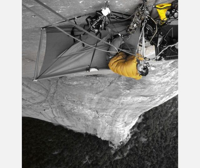 僕らの黄色のバッグが「シールド」から落ちる数時間前。©Dave N. Campbell