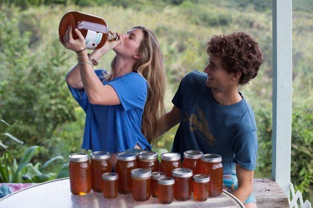 彼女は本当にハチミツをガブ飲みしているわけではないが、全部飲んでみたいほどにおいしい。ハチミツは砂糖に代わる甘味料であり、栄養面での利点があるばかりか薬理作用もある。Photo:Anna Riedel
