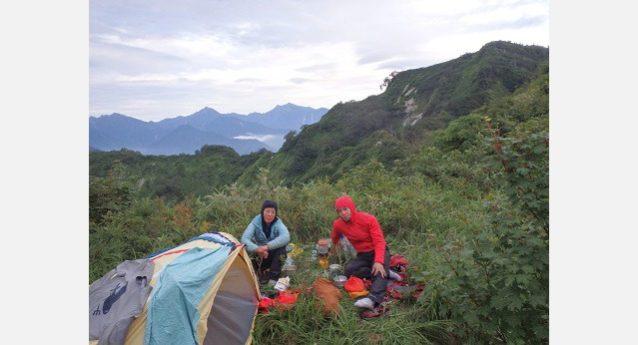 2泊目はサンナビキ前衛峰。写真:谷口けい