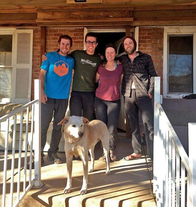 チーム(左から右):イーサン、ステファン、レイチェル、アラン。Photo: Steffan Gregory