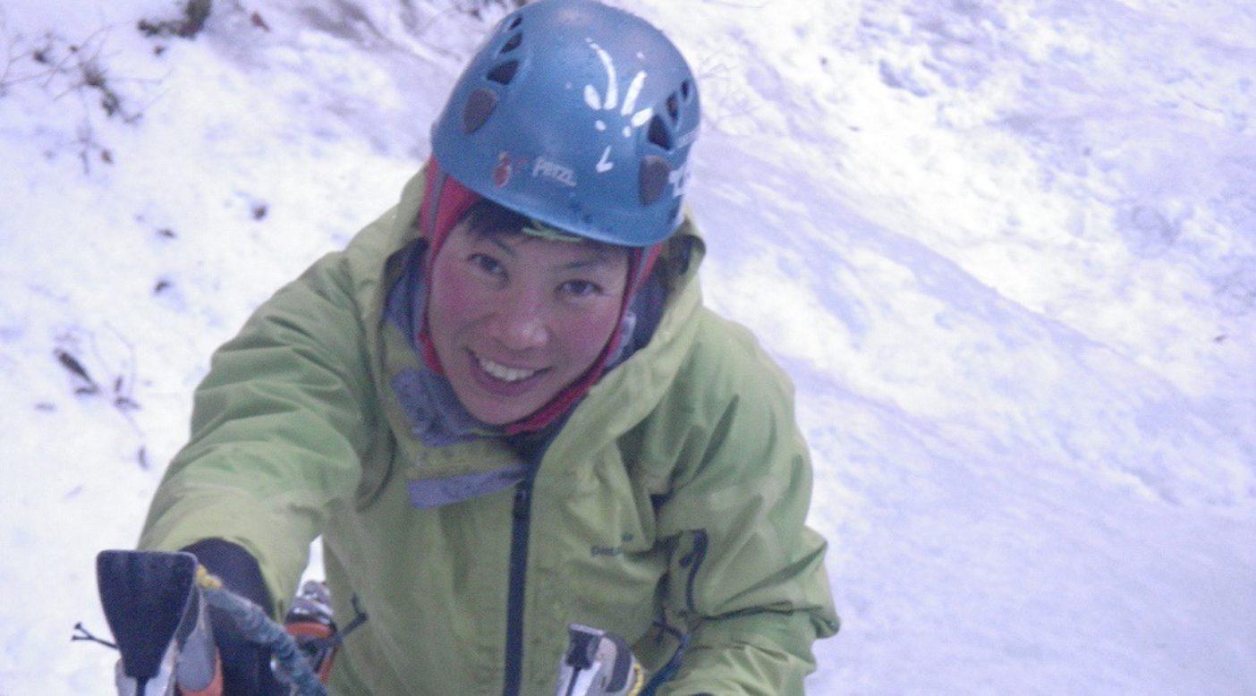 南アルプスでのアイスクライミング 2012年2月。 写真:鈴木啓紀