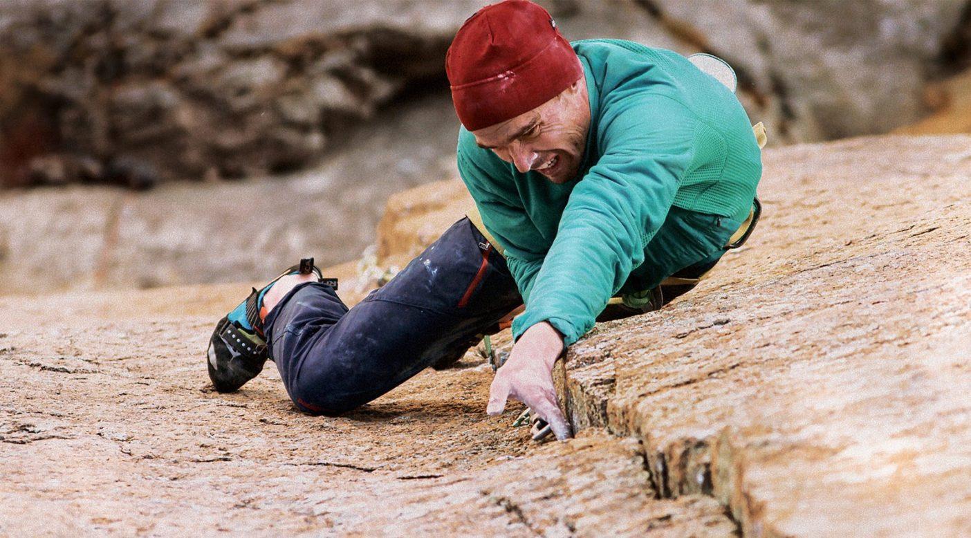 「ダン/ウエストベイ・ダイレクト」のジョシュ・ワートン。コロラド州ロッキー・マウンテン国立公園のロングス・ピークのザ・ダイアモンド Photo: Chris Alstrin