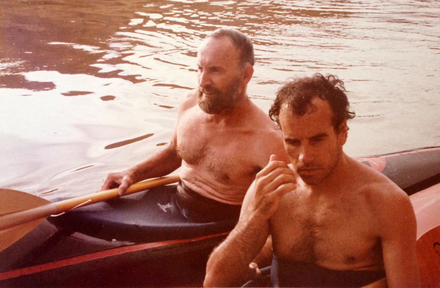 1979年のロイヤル・ロビンス(左)とダグ・トンプキンス。Photo: Karen Chamberlin