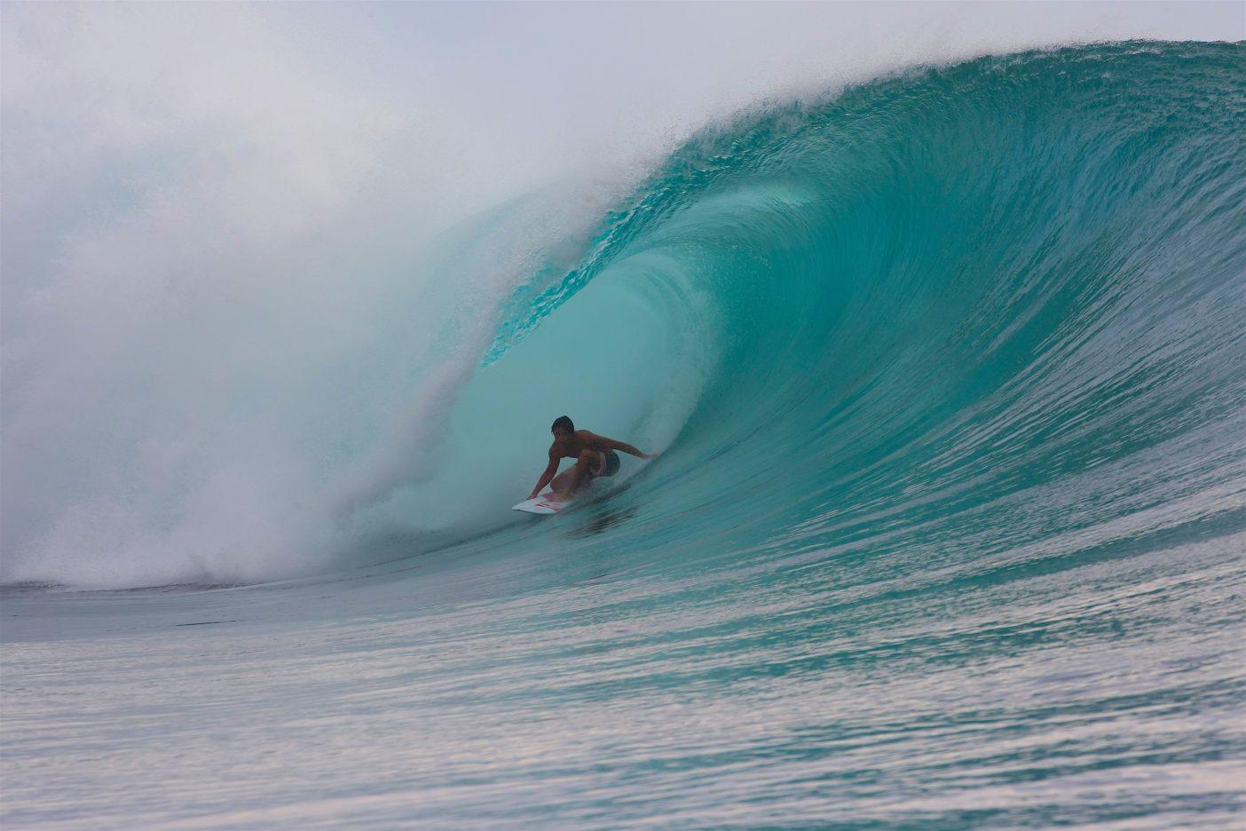 海と調和できた至福の一時。インドネシアG-ランドにて。Photo: Will Souw