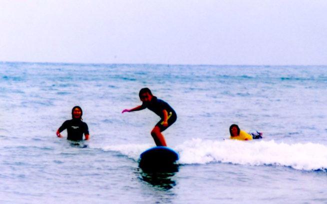 サーフィンと私。ここから私のサーフィン人生が始まりました。写真:武知 実波