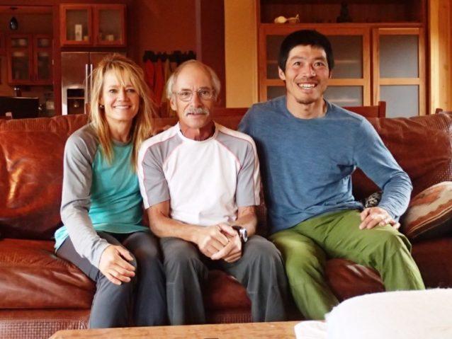ジェイ・スミス(中)とキティ・キャルフーン(左)はぼくの敬愛するクライマー。彼らの家に数日間お世話になった。写真:横山勝丘