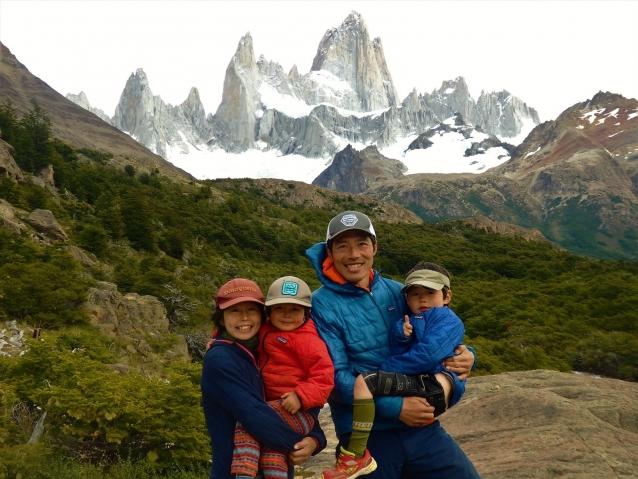 フィッツロイ山群の稜線を息子たちに見せてあげたい、それが今回の旅のきっかけでもあった。 写真:横山勝丘