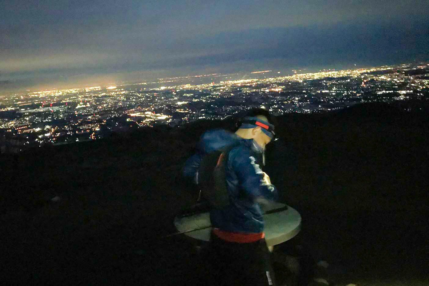 竜ヶ岳からの夜景