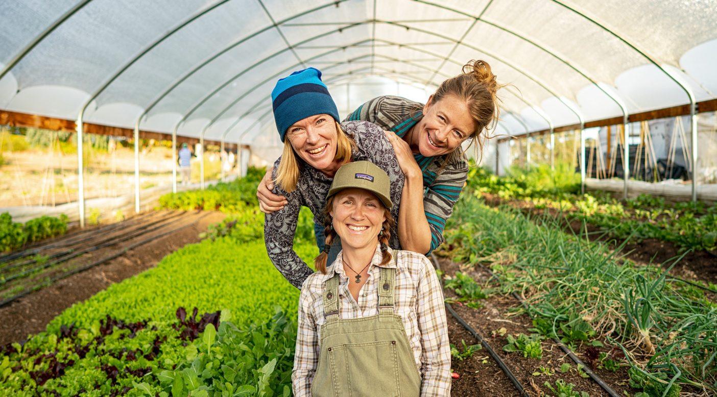 〈Farm to Crag〉を共同創設したケイト・ラザフォード、ジュリー・フェイバー、リンダ・タイラー。