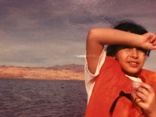 ミード湖での9歳の著者。「父が企画した多くの釣り旅行のひとつでした」photo:Jocelyn Torres