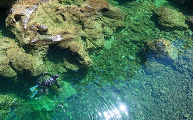 水面に浮かび、ルス・リケッツは太平洋岸北西部の澄み切った川を漂う。写真:リア・ヘムベリー