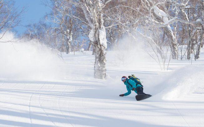 ニセコバックカントリーにて、極上の新雪にターンを刻む至福のひととき。 Photo : Rip Zinger