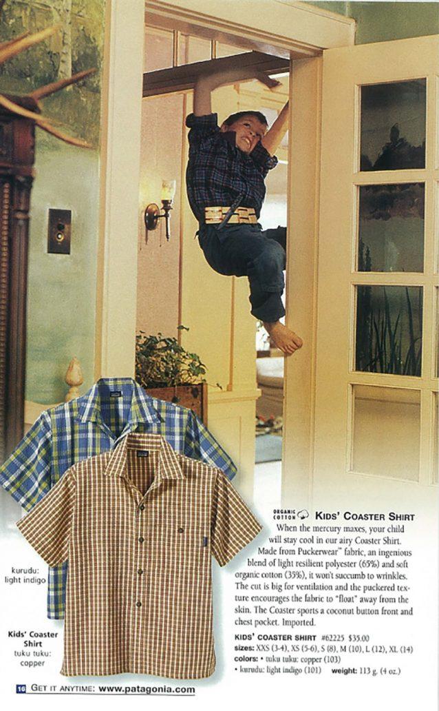 アンディ・ビリップ。2001年夏のキッズ・カタログ。 Photo : Jim Billipp