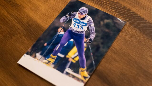 クロスカントリースキー競技に明け暮れていた学生時代。