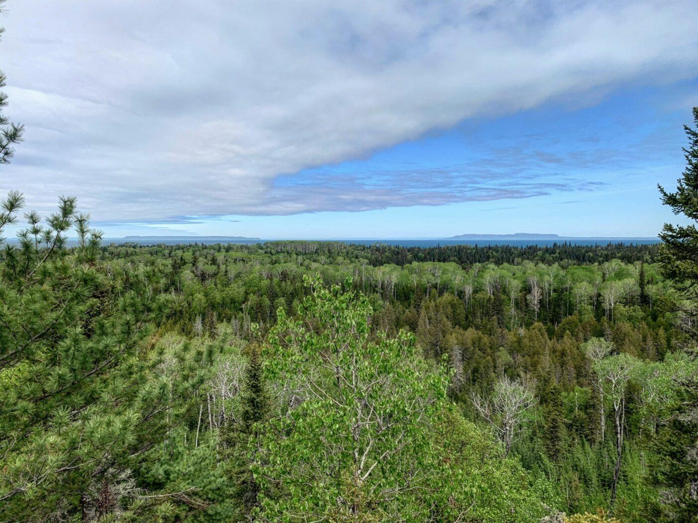 グリーンとブルーの層。北へカナダの島々を望む。Photo: Monica Prelle