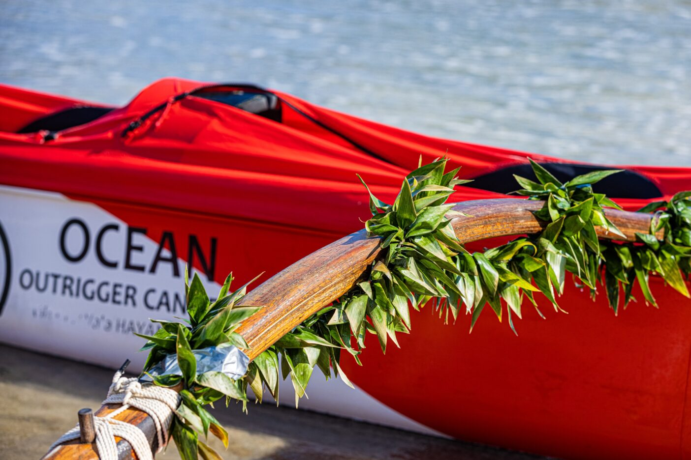 航海を終えたアウトリガーカヌー「Ke ala kai o kou mau kupuna」。次の目的地は小笠原諸島。Photo:Sayoko Suzuki