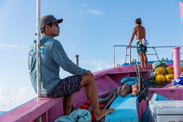 オーシャンアスリートとして輝かしい実績を誇るケニー。競技で磨かれた技術、経験を元に、海のすばらしさを伝える。Photo:Sayoko Suzuki