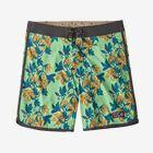 メンズ・スカラップヘム・ストレッチ・ウェーブフェアラー・ボードショーツ 18インチ, Squash Blossoms: Bud Green (SBBG)